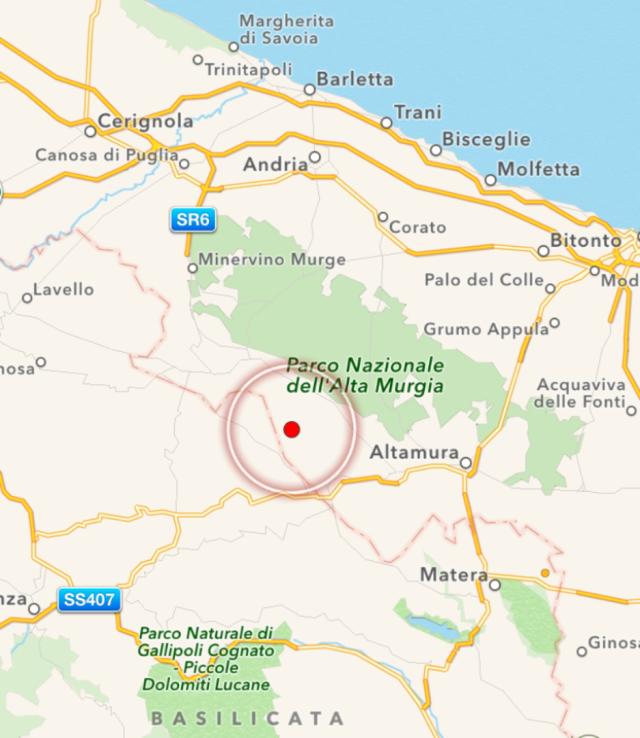 Cartina Puglia Altamura.Terremoto Ad Altamura Avvertito Anche A Taranto E Provincia Studio100